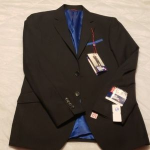 Billy London Suit Jacket Mens 36S Black Navy New